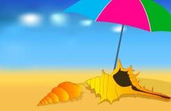Lato śliczna plaża Zdjęcie Stock