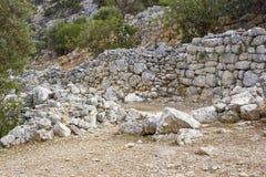 Lato, ancient city on the island of Crete Royalty Free Stock Photos