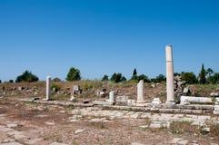 Lato antico della città della via dell'agora, Turchia Fotografia Stock Libera da Diritti