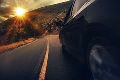 Lato autostrady przejażdżka Zdjęcia Royalty Free