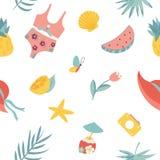 Lato bezszwowy wzór Mile widziany lato royalty ilustracja