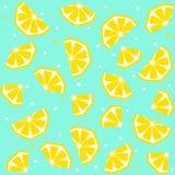 Lato bezszwowy wzór z cytryną, wektorowy tło ilustracji