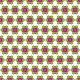 Lato bezszwowy wzór z kwiecistym ornamentem na lekkim backgr ilustracja wektor