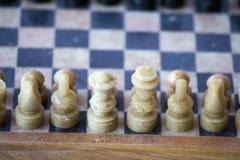 Lato bianco di un gioco di scacchi Immagini Stock Libere da Diritti