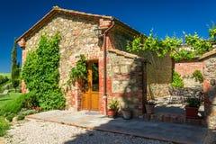 Lato chałupy agriturismo w Tuscany Fotografia Stock