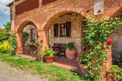 Lato chałupy agriturismo w Tuscany Obraz Stock