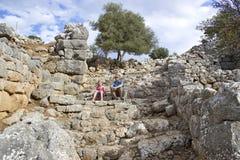 Lato, città antica in Crete Immagine Stock