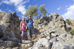 Lato, città antica in Crete Immagini Stock