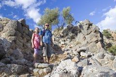 Lato, ciudad antigua en Crete imagenes de archivo