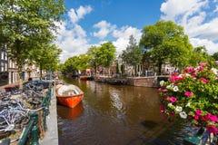 Lato czas Amsterdam Zdjęcia Royalty Free