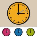 Lato czas Wektorowa ilustracja - Odizolowywająca Na bielu - czasu przesunięcie Przedni - ilustracja wektor