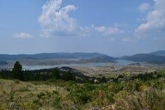 Lato czasu obrazek Aoös jezioro, Grecja Obraz Royalty Free