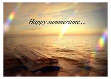 Lato czasu plaży wakacje Obrazy Royalty Free