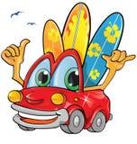Lato czasu samochodu kreskówka Zdjęcie Stock