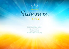 Lato czasu tło z tekstem - ilustracja Obrazy Stock