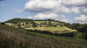 Lato czeski krajobraz na wzgórzach Zdjęcie Royalty Free
