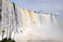 Lato del brasiliano delle cascate di Iguazu Immagini Stock Libere da Diritti