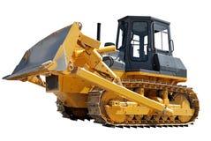 Lato del bulldozer sopra bianco Fotografia Stock Libera da Diritti