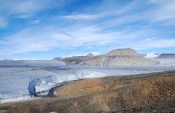 Lato del ghiacciaio dell'aeronautica Fotografie Stock Libere da Diritti