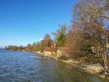 Lato del lago Ammersee Fotografia Stock Libera da Diritti