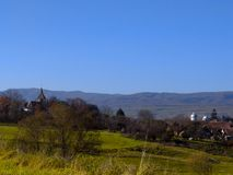 Lato del paese in Romania Fotografia Stock