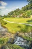 Lato del paese del Tirolo vicino al posto di Mariastein Immagini Stock