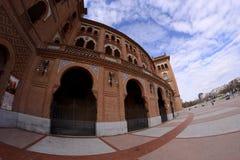 Lato del quadrato tramite un fish-eye, Madrid di Las Ventas Fotografie Stock Libere da Diritti