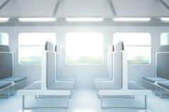 Lato dell'interno del treno passeggeri Fotografia Stock