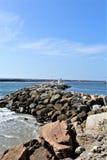 Lato dell'oceano di Portifino California del passaggio della baia a Redondo Beach, California, Stati Uniti fotografie stock