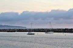 Lato dell'oceano di Portifino California a Redondo Beach, California, Stati Uniti immagine stock