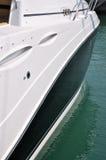 Lato dell'yacht di lusso Fotografia Stock
