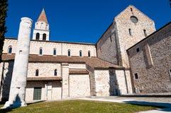 Lato della basilica di Aquileia fotografia stock libera da diritti