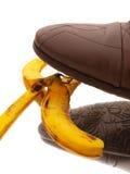Lato della buccia della banana di punto Fotografie Stock