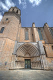 Lato della cattedrale a Girona Fotografie Stock