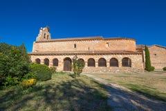 Lato della chiesa in Santa Maria de Riaza Immagine Stock Libera da Diritti