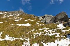 Lato della montagna sul ghiacciaio di Kaiser Franz Josef Grossglockner, alpi austriache Fotografie Stock Libere da Diritti