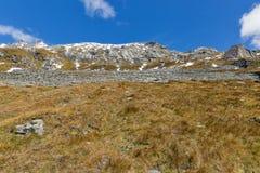 Lato della montagna sul ghiacciaio di Kaiser Franz Josef Grossglockner, alpi austriache Fotografia Stock