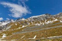 Lato della montagna sul ghiacciaio di Kaiser Franz Joseph Grossglockner, alpi austriache Fotografie Stock Libere da Diritti