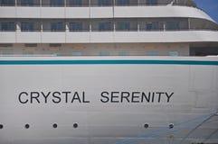 Lato della nave da crociera di Crystal Serenity Fotografie Stock Libere da Diritti