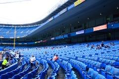 Lato della prima base del Yankee Stadium Fotografie Stock Libere da Diritti