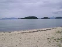 Lato della spiaggia immagine stock