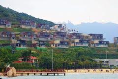 Lato della spiaggia di costruzione Fotografia Stock Libera da Diritti