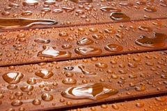 Lato deszcz na pokładzie Obrazy Royalty Free