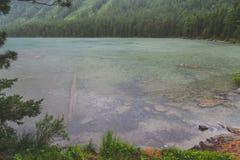 Lato deszcz w górach Zdjęcie Royalty Free