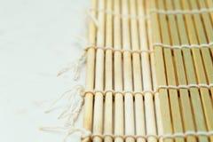 Lato di bambù della stuoia due Immagini Stock