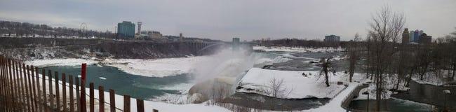 Lato di Candian del cascate del Niagara immagini stock libere da diritti