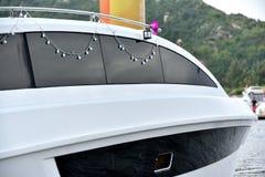 Lato di corpo dell'yacht Fotografia Stock