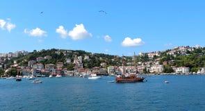 Lato di Europa della linea costiera di Costantinopoli Immagine Stock