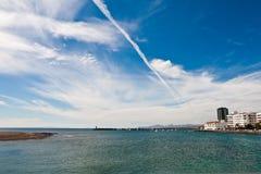 Lato di mare di Arrechife Immagine Stock Libera da Diritti
