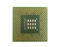 Lato di Pin del CPU in su Fotografie Stock Libere da Diritti